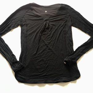 LULULEMON Black Striped Longsleeve T Shirt Size S